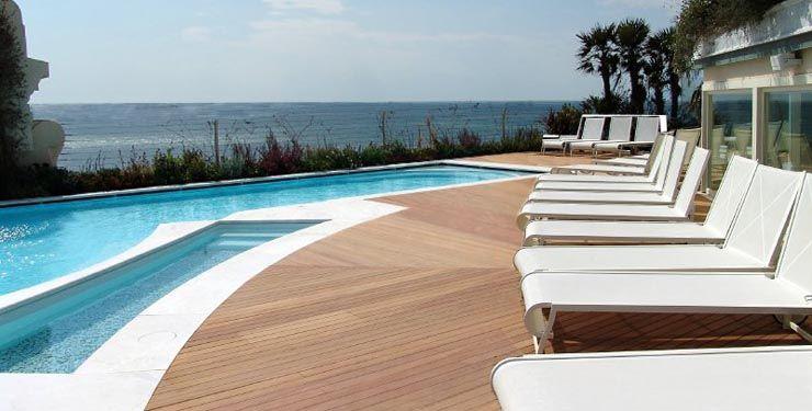 Ipe Wood Deck Joining Concrete Pool Surround Pools Decking Ipe Concrete Infinity Playpool Ipe Decking Pool Outdoor