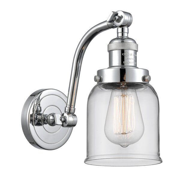 Rodrigez Small Bell 1 Light Dimmable Armed Sconce Sconces Innovations Lighting Vintage Led Bulbs