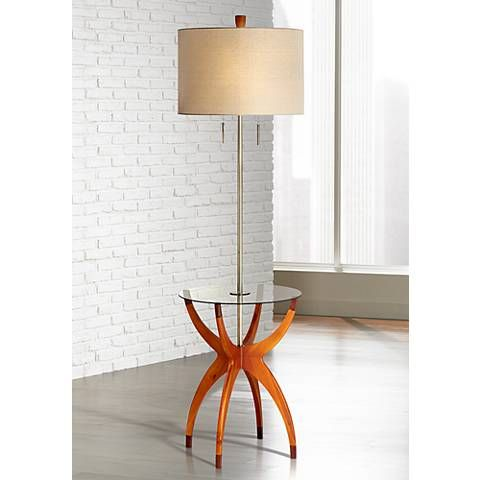Vanguard Floor Lamp with Glass Tray Table Glass tray Floor lamp