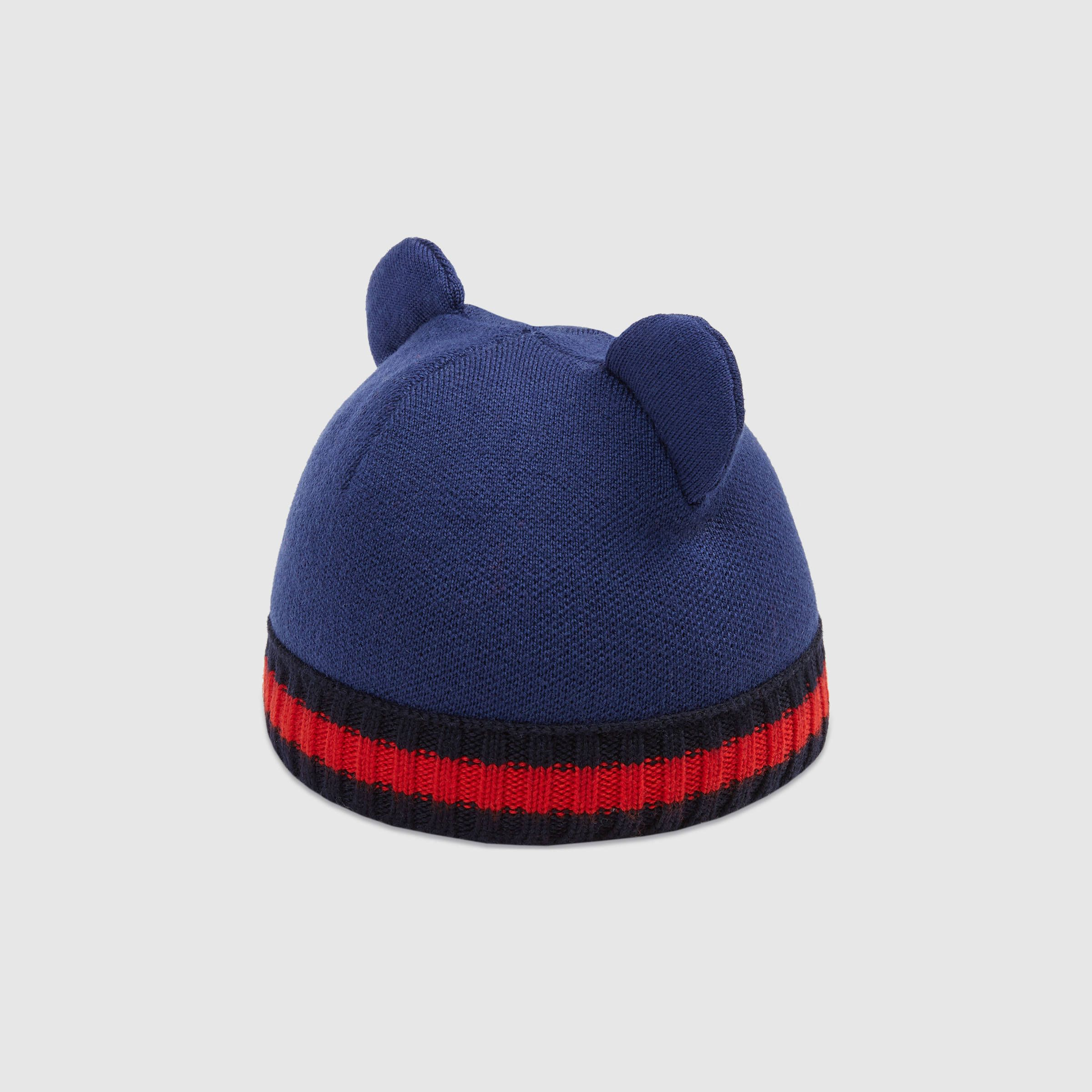 77ff2e160f7c Baby knit hat with ears - Gucci Baby Hats 4509083K2064268   twinz ...