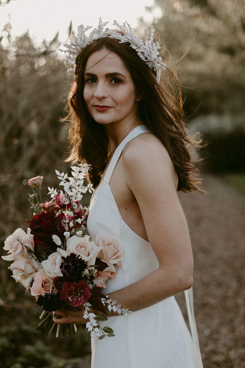 Irish Wedding at Larchfield Estate with Bride in Halfpenny