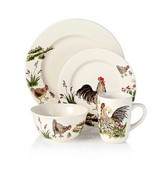 Rooster Dinnerware Set Clearance | Product Paula Deen® Southern Rooster 16-pc.  sc 1 st  Pinterest & Rooster Dinnerware Set Clearance | Product: Paula Deen® Southern ...