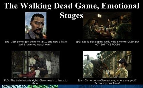 The Walking Dead Emotional Progression Walking Dead Game The