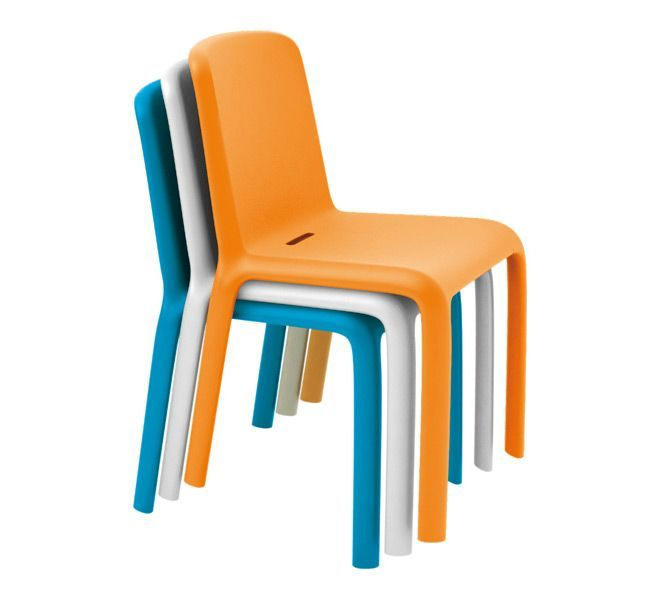 orange white blue colors snow plastic stacking chairs model | epic