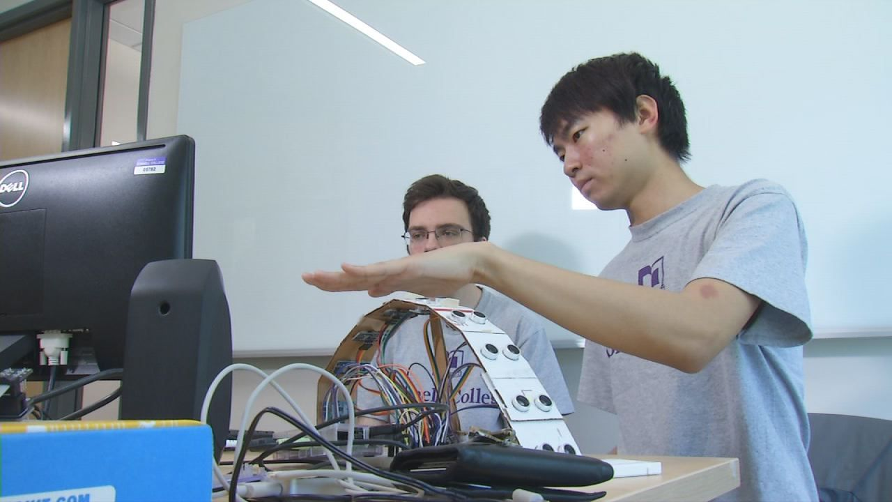 Cornell college students create gesturecontrolled piano