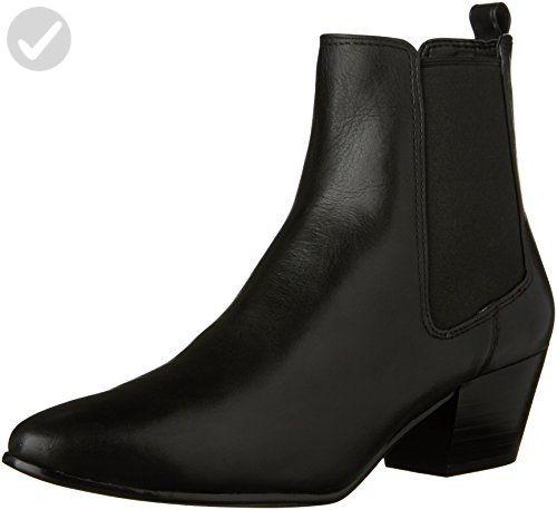 fbdd9eb1a544c Sam Edelman Women's Reesa Ankle Bootie, Black Leather, 8.5 M US ...