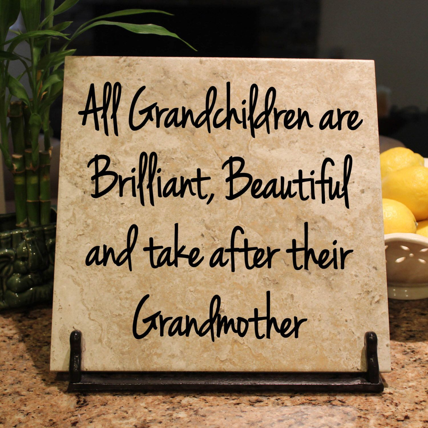 12X12 Decorative Tiles Custom All Grandchildren Are Brilliant Beautiful And Take After Their Review