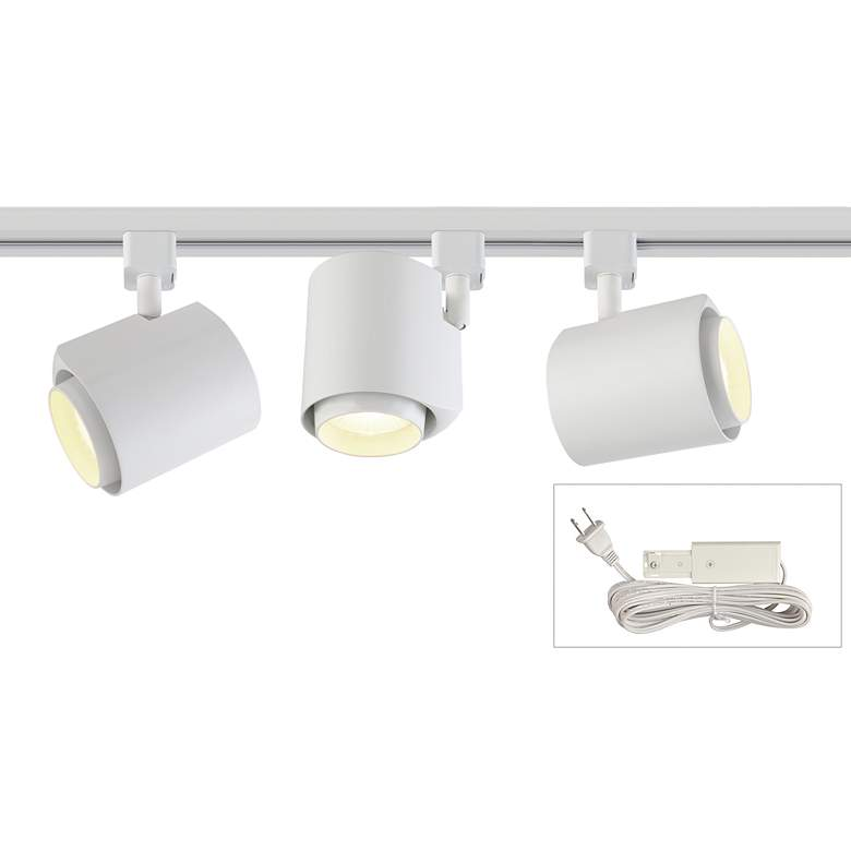 White 22w Led 3 Light Plug In 4 Foot Liner Track Kit 57t21 Lamps Plus Led Plugs Ceiling Lights