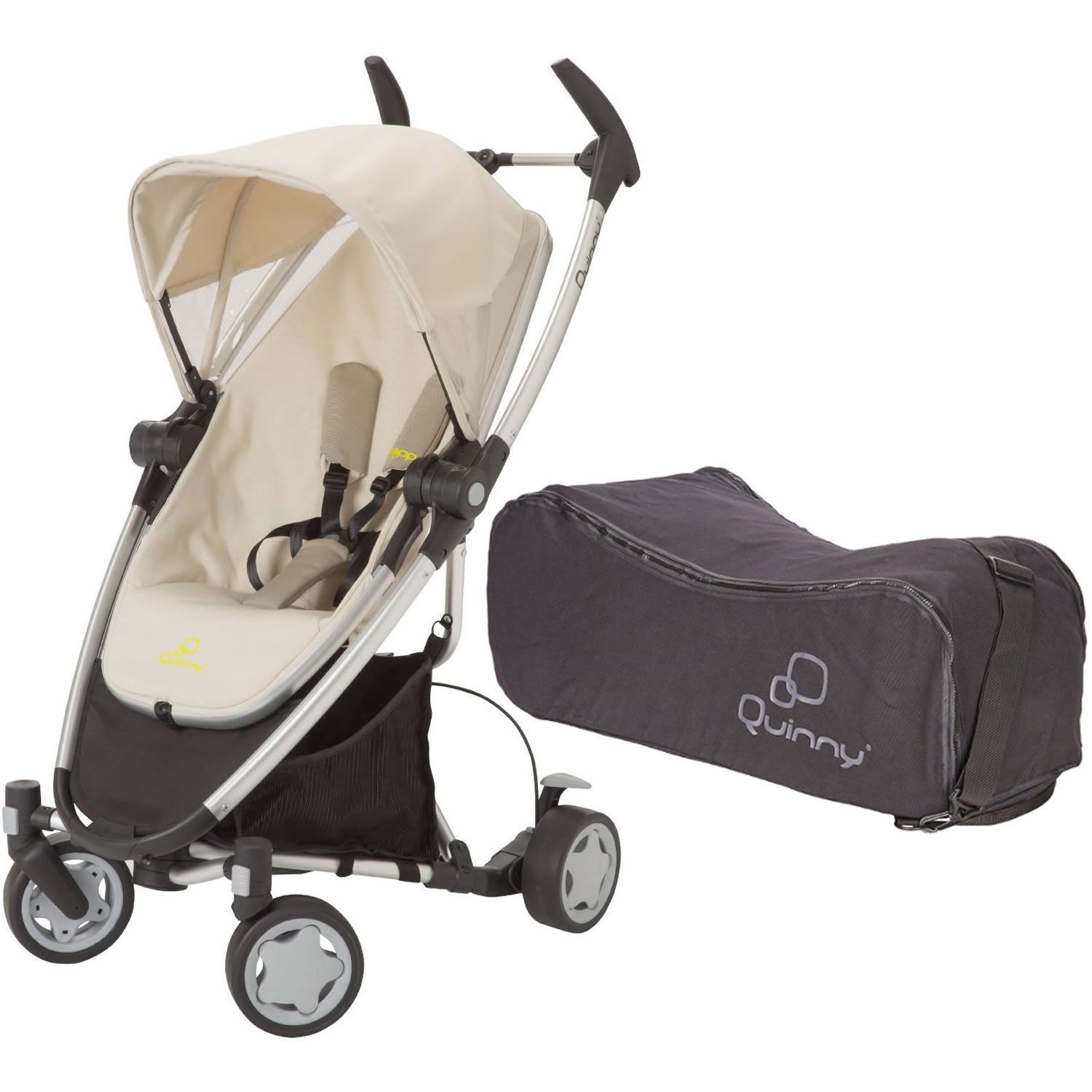 Quinny Zapp Xtra Folding Seat With Travel Bag Natural