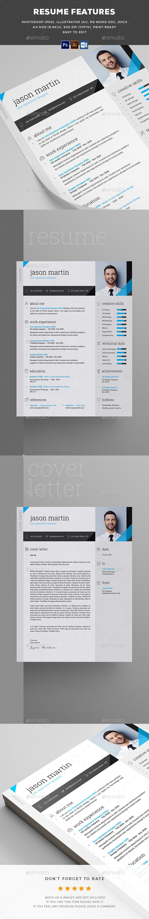 Resume  Ai Illustrator Resume Cv And Cv Template