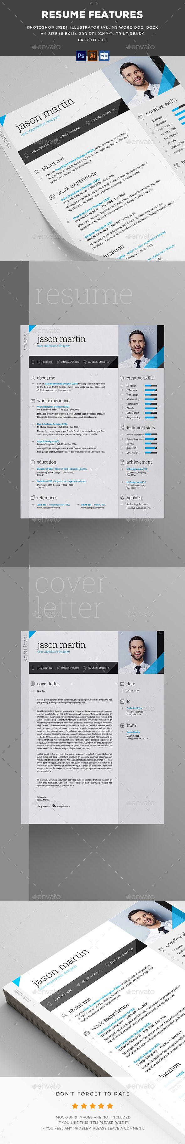 Resume | Ai illustrator, Template and Resume cv