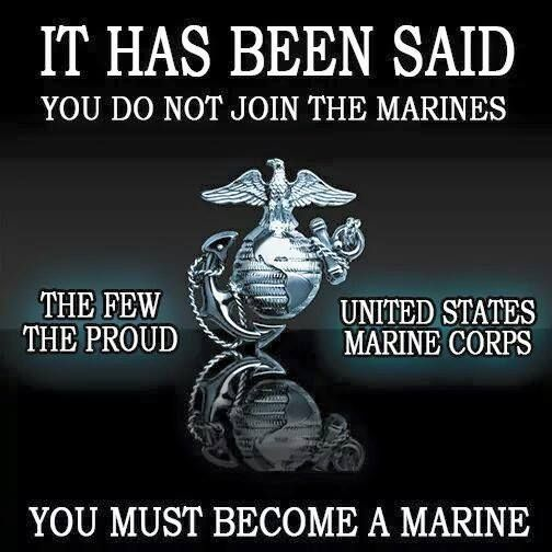 You Must Become A Marine