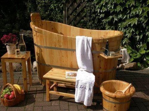 Elegant TUAMC Sauna TauchBecken Holz Badebottich Zuber Badezuber Bottich Holzbadewanne in