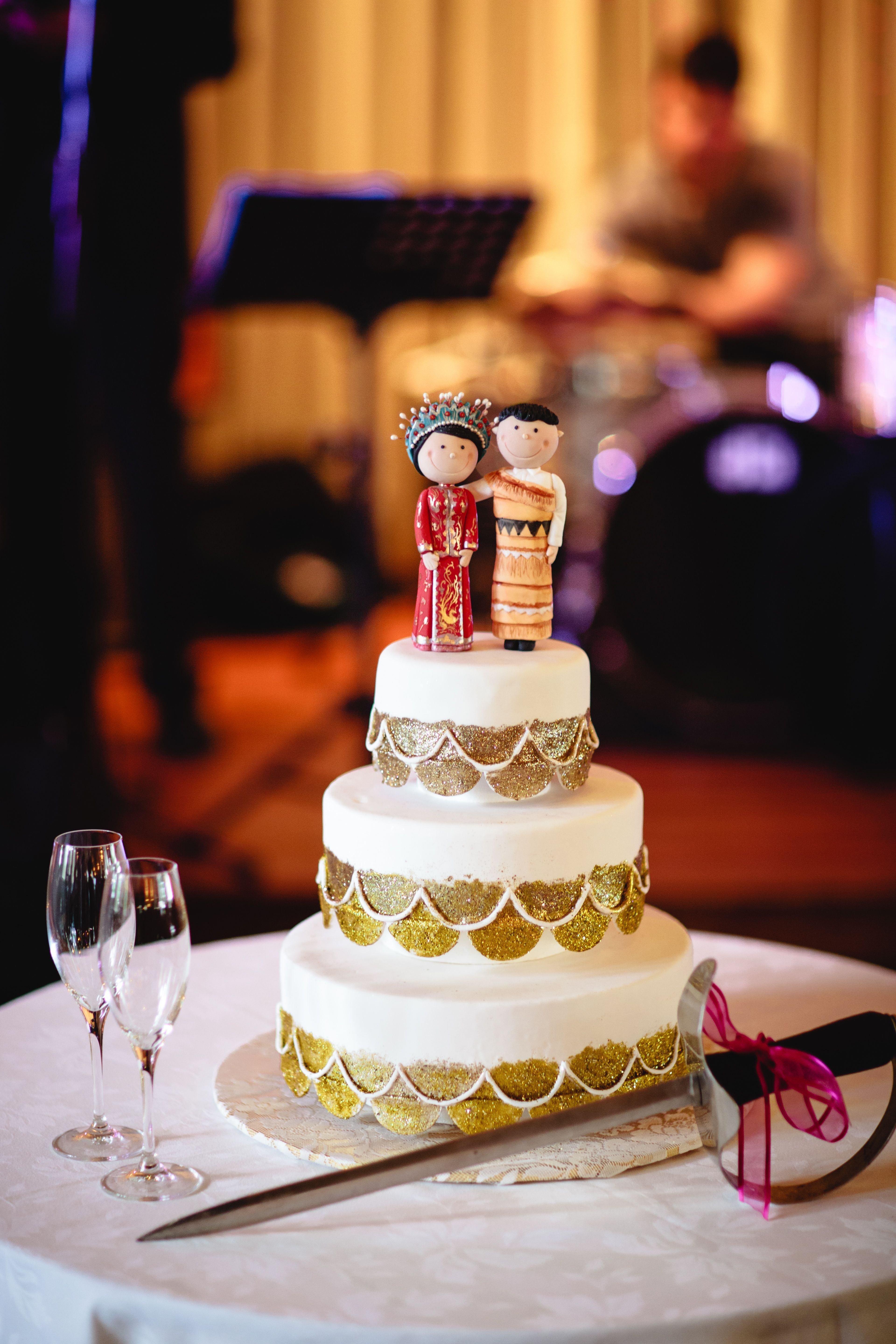 Charmaine And Pauls Rippon Lea Gardens Melbourne Wedding Tongan Cake Topper For