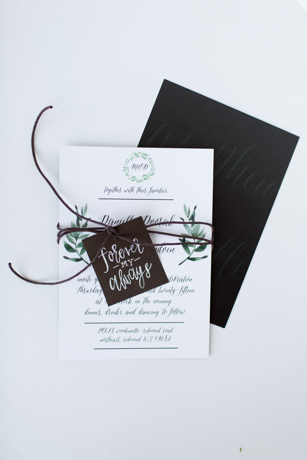 Danielle and Matt's Wedding Invitation Suite — Eleven + West