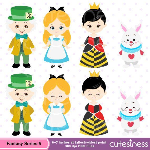 Alice in wonderland clipart commercial use alice ...