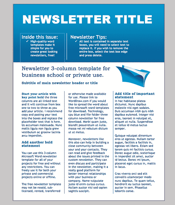 Create Newsletter Template Word from i.pinimg.com
