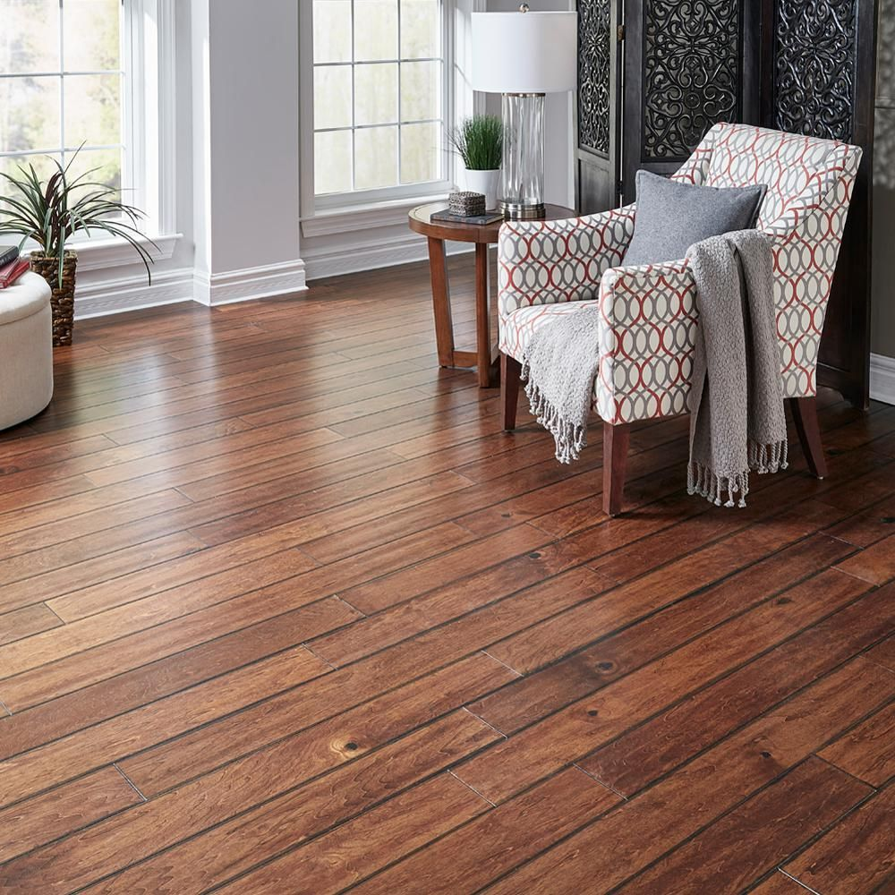 image brazilian cherry handscraped hardwood flooring. brazilian cherry red 34 in thick x 358 wide varying length solid exotic hardwood flooring 1556 sq ft case image handscraped