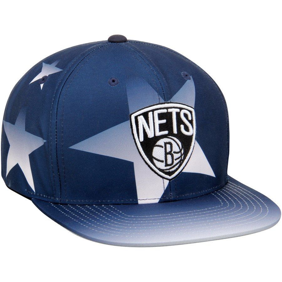 aa943a7b1ea7f8 Men s Brooklyn Nets Mitchell   Ness Navy Award Ceremony Snapback Adjustable  Hat  Mitchell Ness