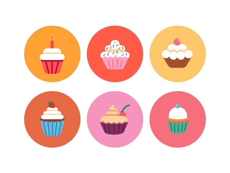 Bakery Cupcake Icons Cupcake Icon Bakery Icon Cupcake Illustration