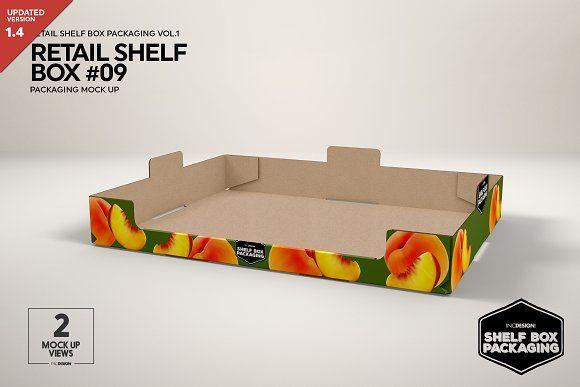 Download Retail Shelf Box 09 Packaging Mockup Packaging Mockup Retail Shelving Mockup