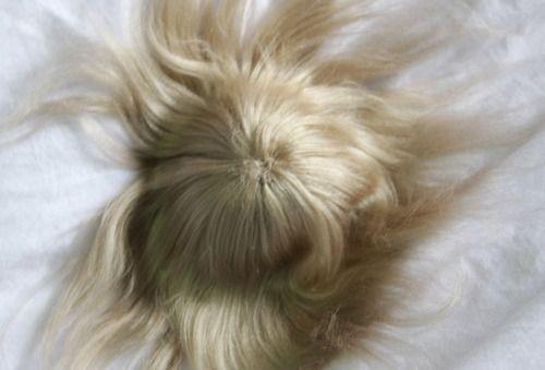 Tutorial Making A Brushed Yarn Wig Yarn Wig Doll Hair Doll Wigs