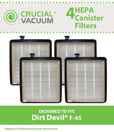 High Quality Replacement HEPA Canister Filter Fits #Dirt #Devil Vacuum Cleaner F45, Pets Canister Vacuum SD40000, & EZ Lite Canister SD40010. Compare to Dirt Devi...