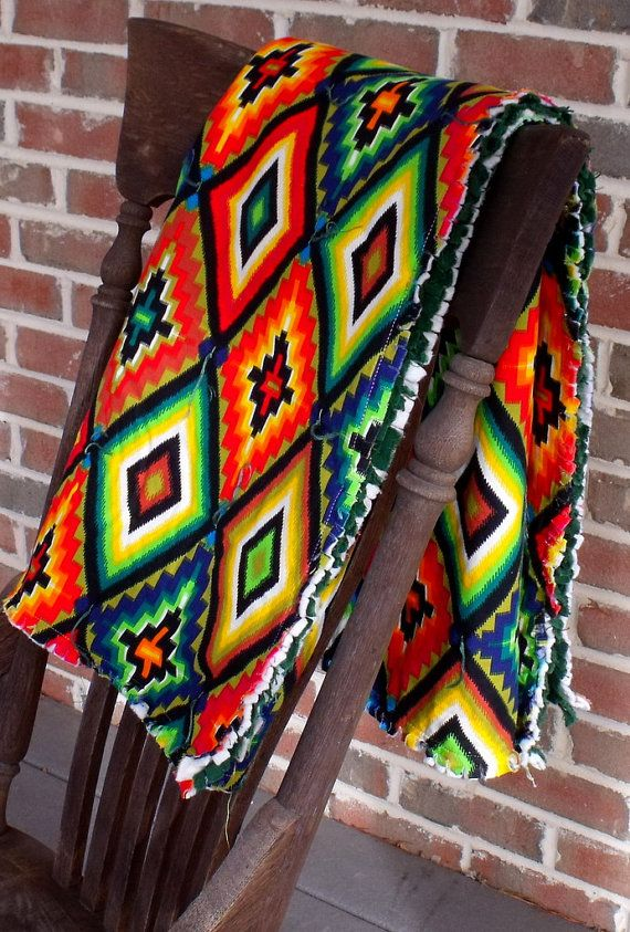 Mexican blanket quilt ojos de Dios by marylandquilter on Etsy ... : mexican quilt - Adamdwight.com