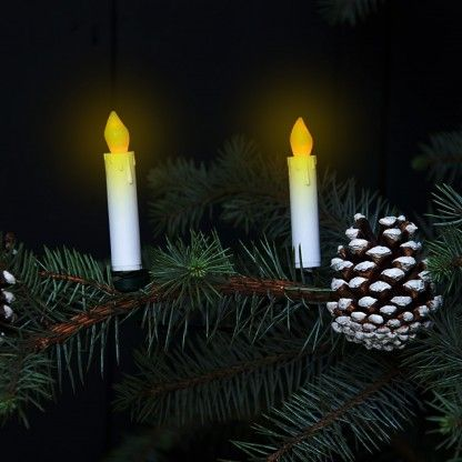 Flickering LED Candle Christmas Tree Lights - Flickering Candle Tree Lights