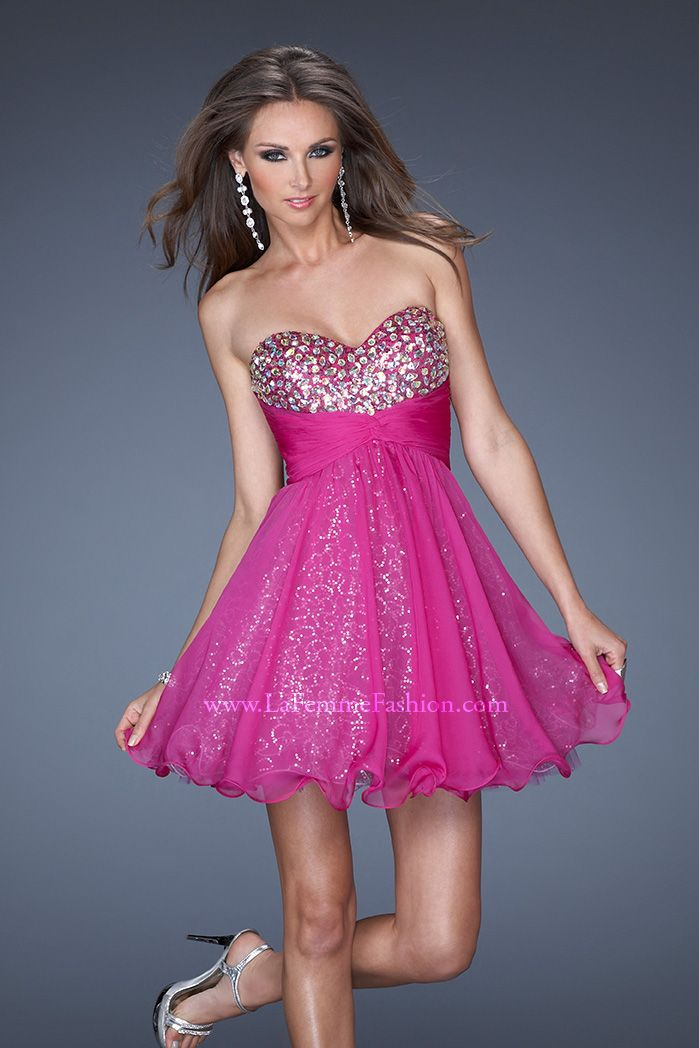 See this LaFemme Prom Dress and other Short Prom Dresses at Bridal ...