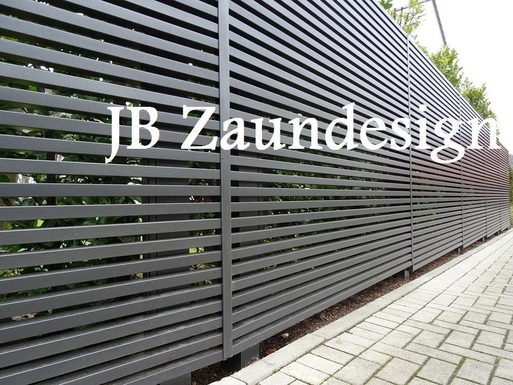 Sichtschutzzaun Wpc Aluminium Aluminiumzaun Sichtschutz Zäune Zaun