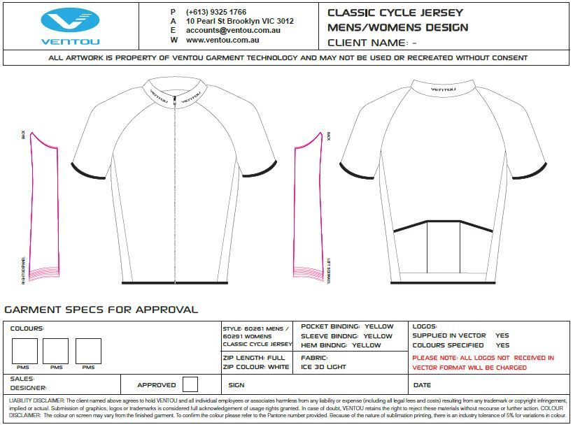 Custom cycle wear design templates coopers cycling for Custom cycling jersey template