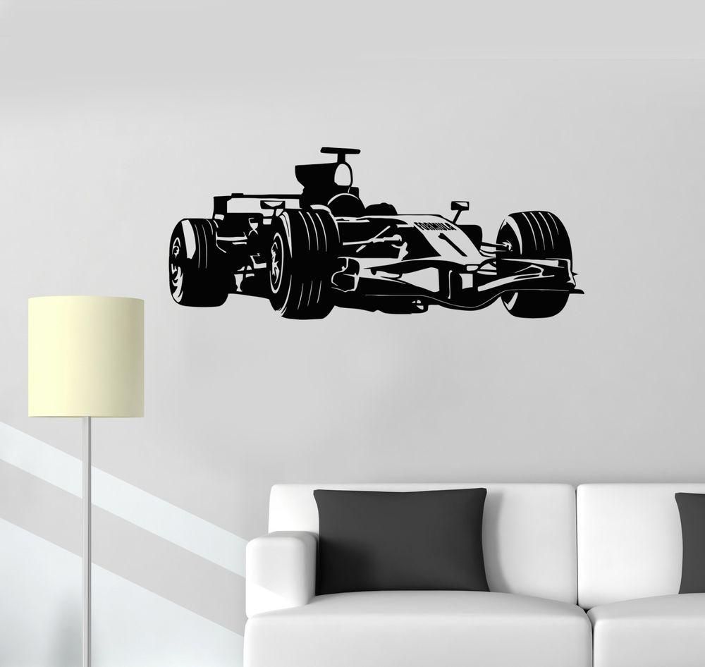 Vinyl Decal Formula 1 Race Car Garage Decor Children S Room Wall Sticker 118ig Garage Decor Vinyl Wall Decals Wall Sticker [ 946 x 1000 Pixel ]