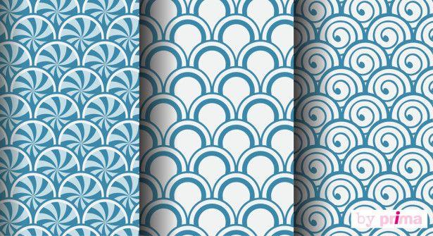 Papiers à Télécharger Origami : Surfez Sur La Vague Du Bleu