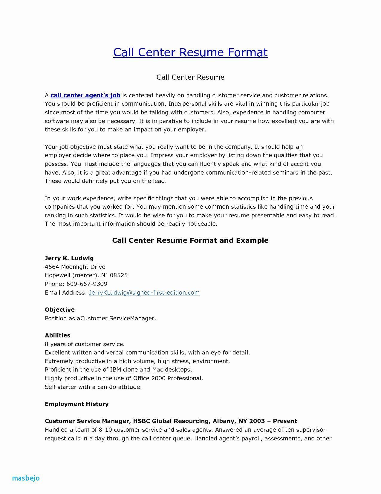 30 Call Center Customer Service Resume In 2020 Resume Skills