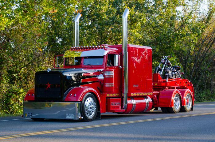 Red Truck Big Rig Trucks Trucks Big Trucks