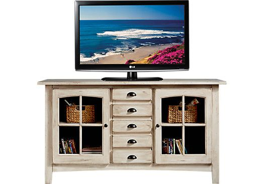 white media console furniture. Picture Of Foxborough Off-White Console From TV Consoles Furniture - Perfect For Living Room. White Media
