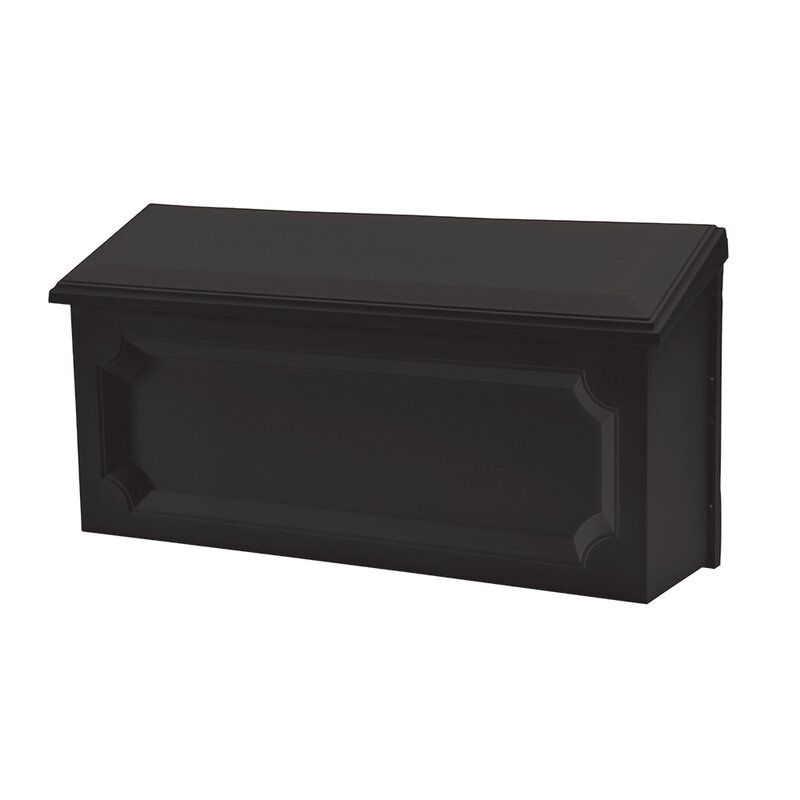Windsor Small Plastic Wall Mount Mailbox Black Reviews Joss Main In 2020 Wall Mount Mailbox Mounted Mailbox Wall Mount