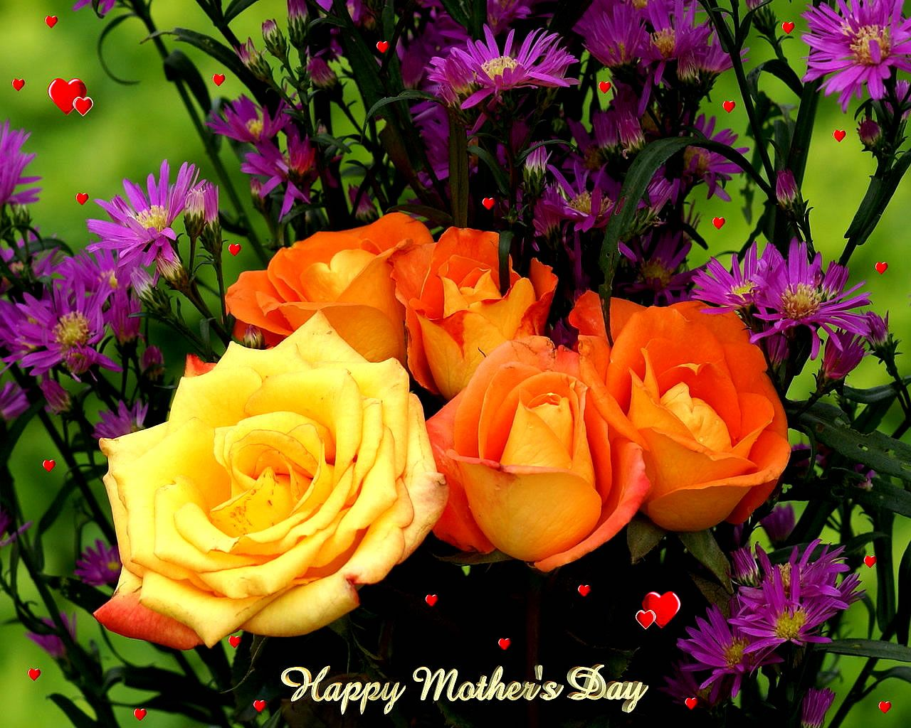 Awesome Happy Mothers Day Red White Flowers Images