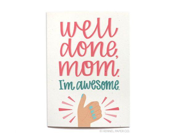 Funny Mom Birthday Card