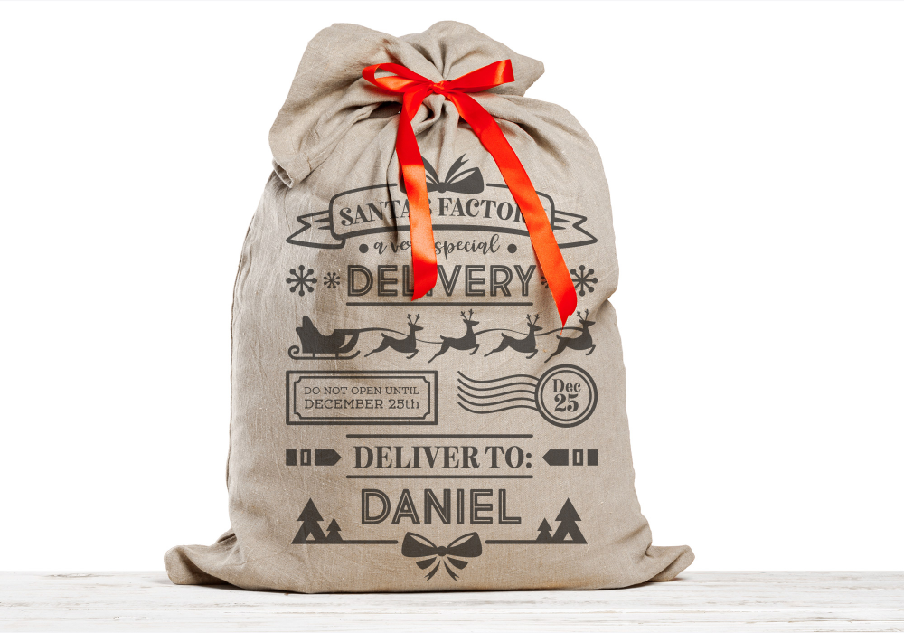 Free Santa Bag I SVG, PNG, EPS & DXF by Personalised