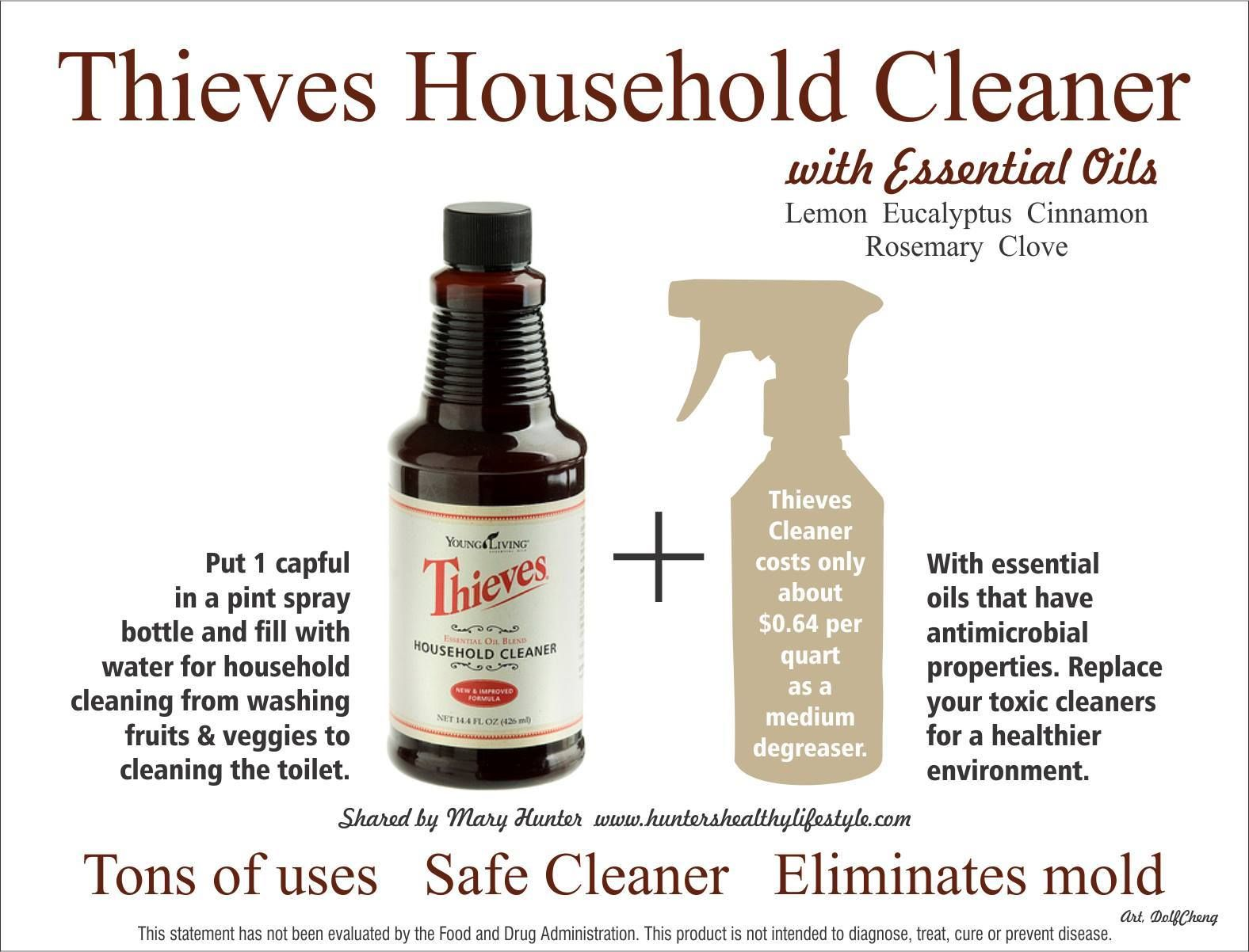 Thieves Household Cleaner Essential Oils Pinterest