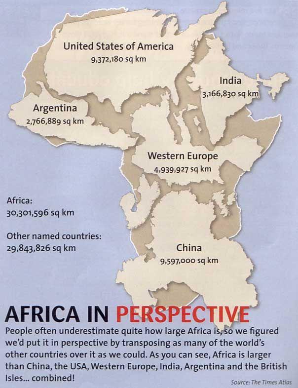 Africa Is Bigger Than You Think   Kindergarten   Build Your