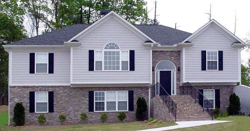 Bi level home exterior makeover home plan can be for Split ranch house plans