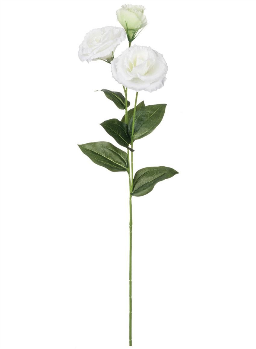 "Silk Lisianthus Spray in White 2-4"" Blooms x 24"" Tall"