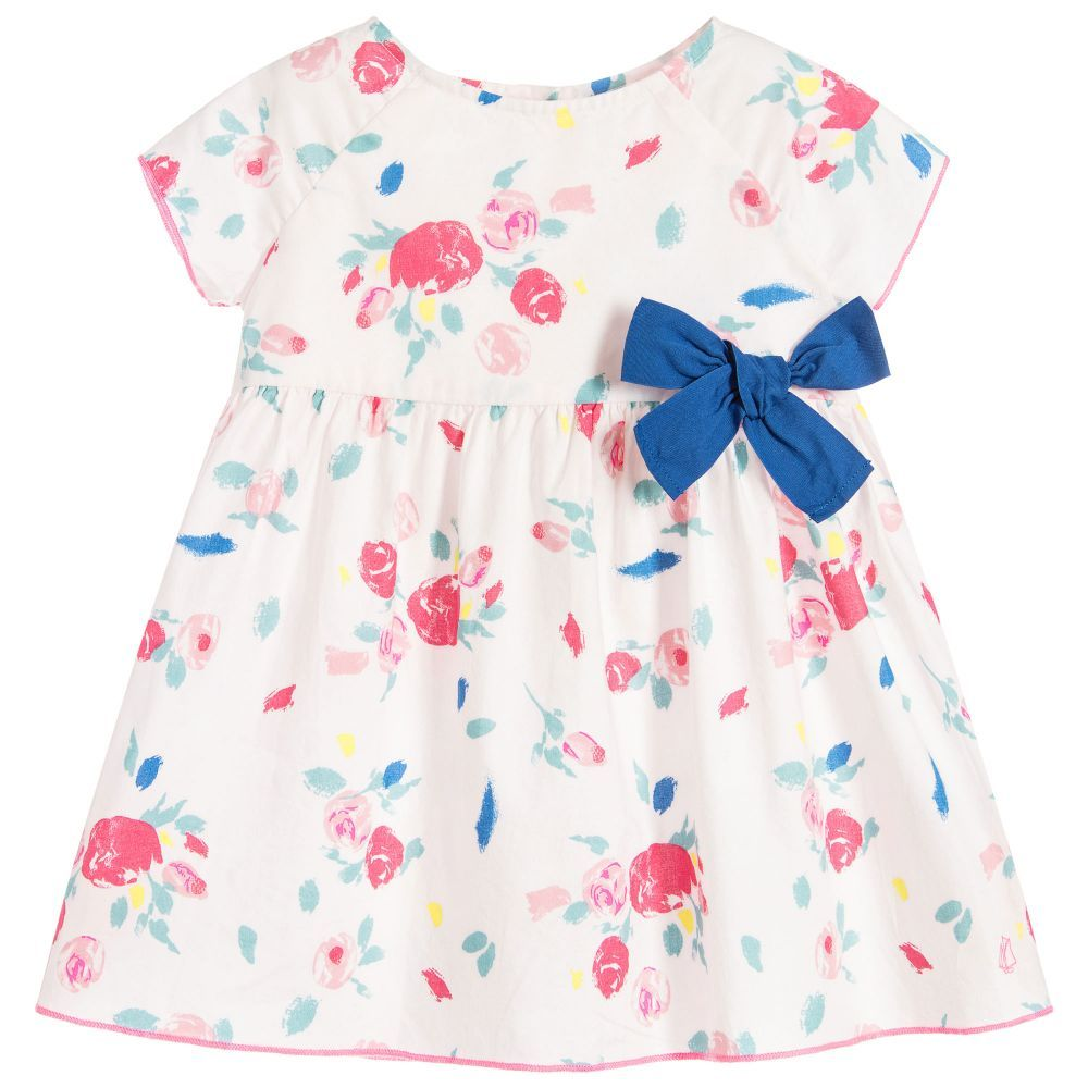 Baby Girls Pink Floral Dress Pink Floral Dress Well Dressed Kids