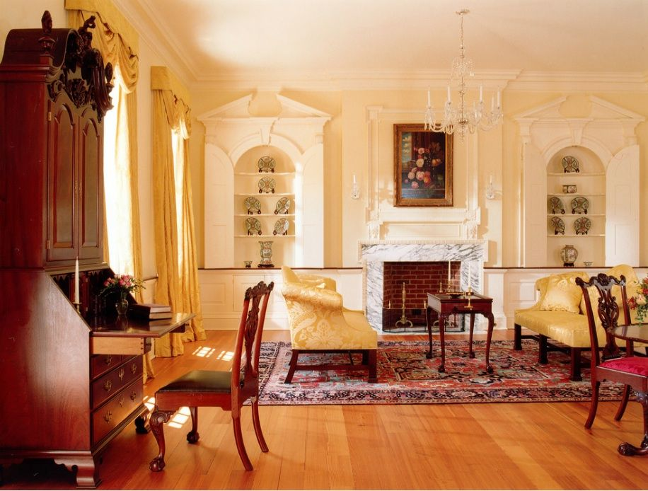 wood was plentiful and was used to make all these fine furnishings