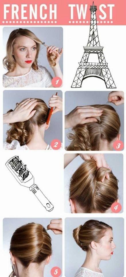 Haarklammer Frisur | Frisur Mit Haarklammern Frisuren Anleitungen