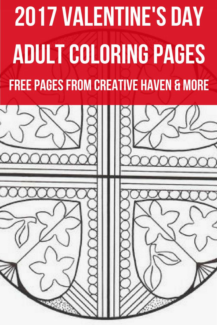 2017 Free Valentine's Day Adult Coloring Pages from ...