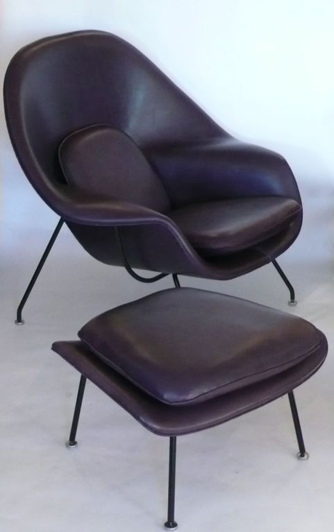 Miraculous Womb Chair In Eggplant Leather Luscious My Future Mid Evergreenethics Interior Chair Design Evergreenethicsorg